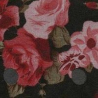 261 Black with Red Flowers